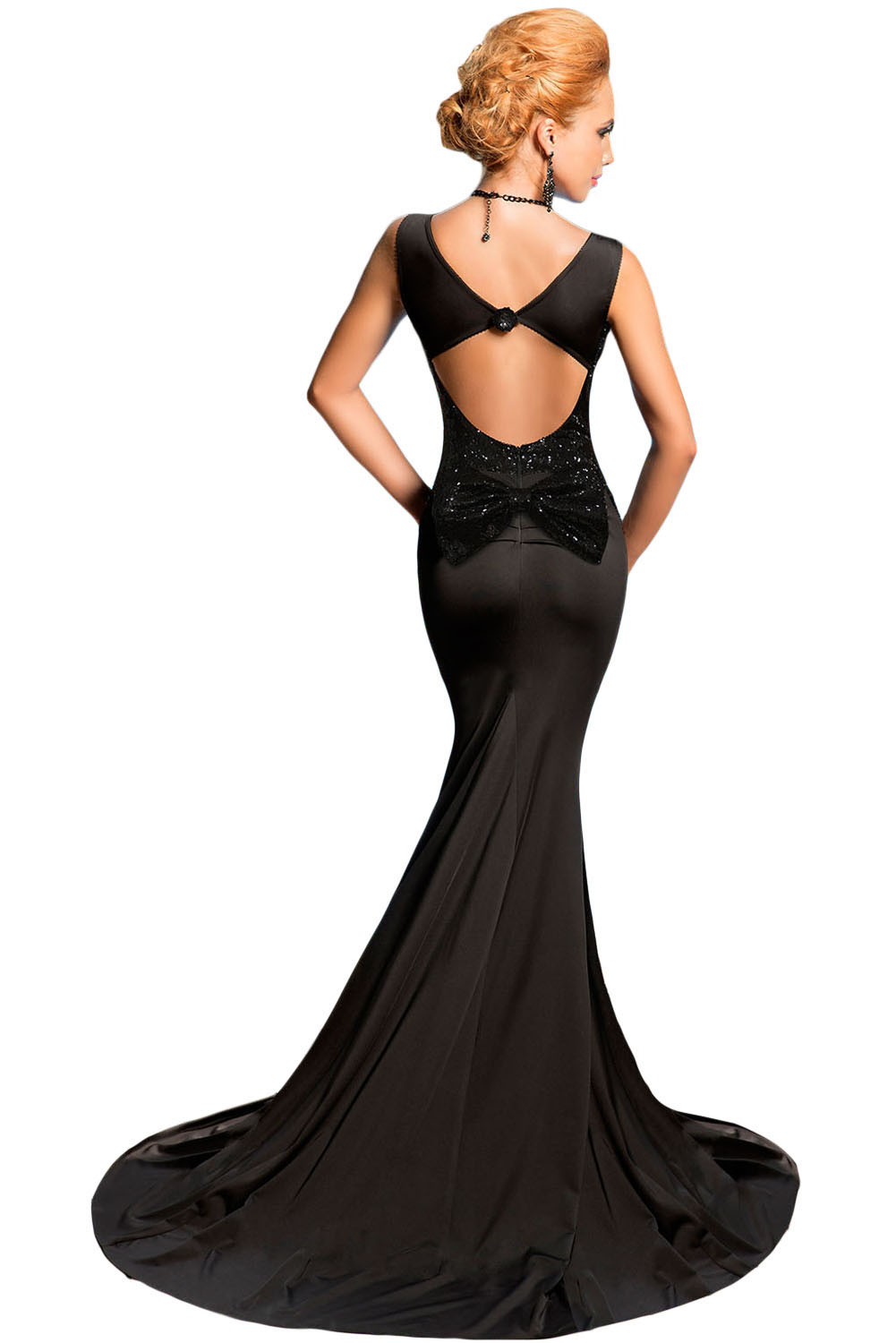Backless Black Sequin Dress – Trend 2017-2018 – FashionMora