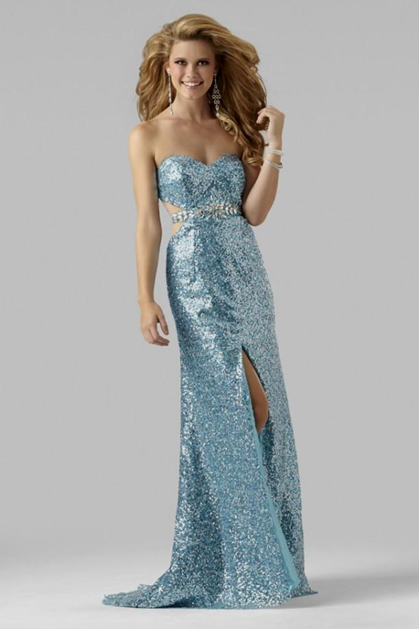 Blue And Silver Sequin Dress – For Beautiful Ladies ...