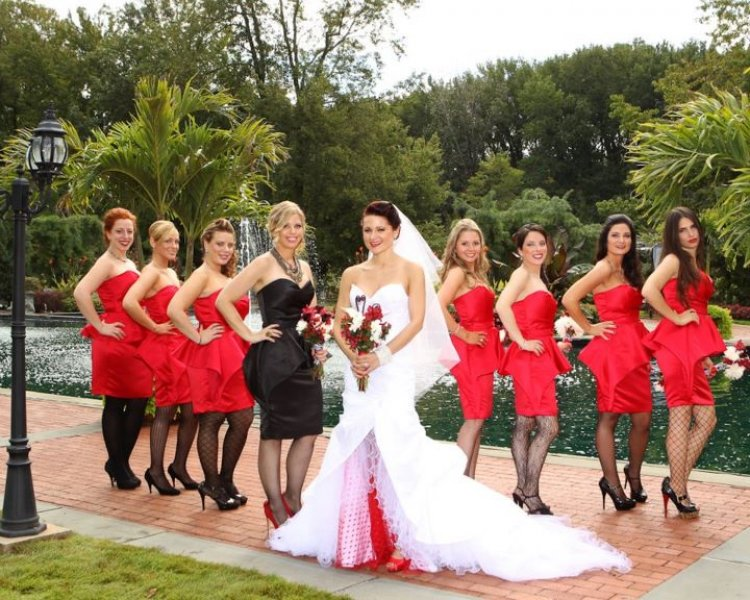 Bridesmaid Dresses Black And Red Fashion Week Collections