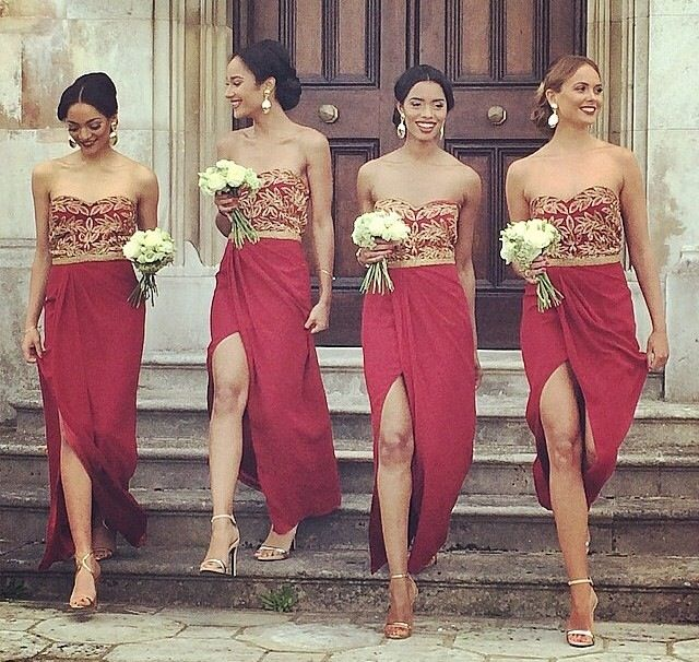 Gold And Red Bridesmaid Dresses – How To Get Attention – FashionMora