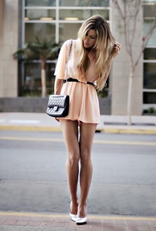 Ladies In Very Short Dresses & Spring Style