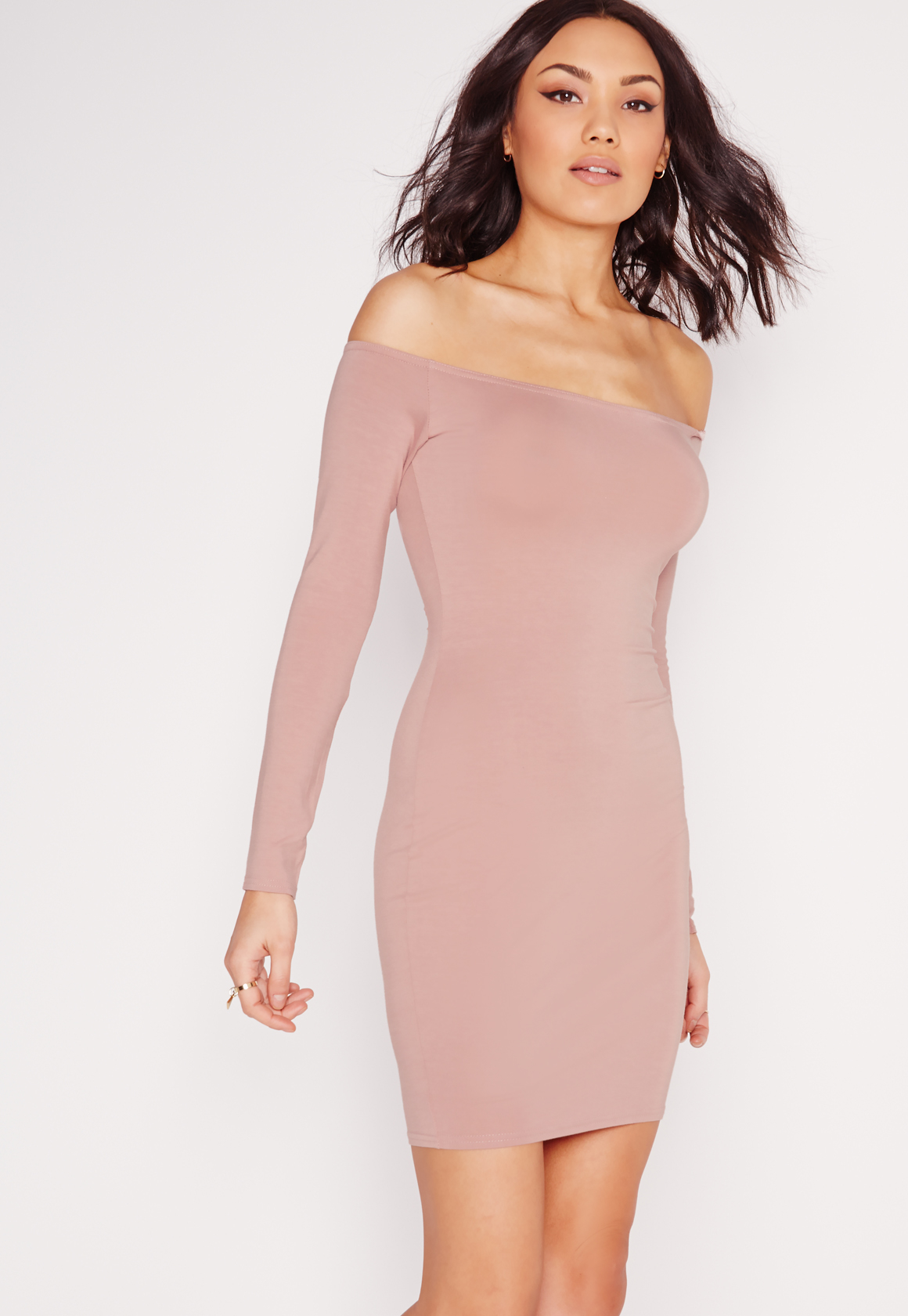 Light Pink Long Sleeve Bodycon Dress & New Fashion Collection