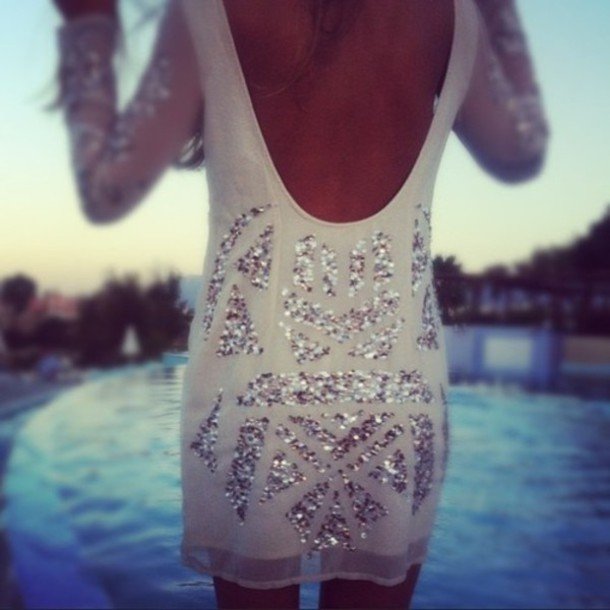 Long Backless Sequin Dress And How To Look Good 2017-2018