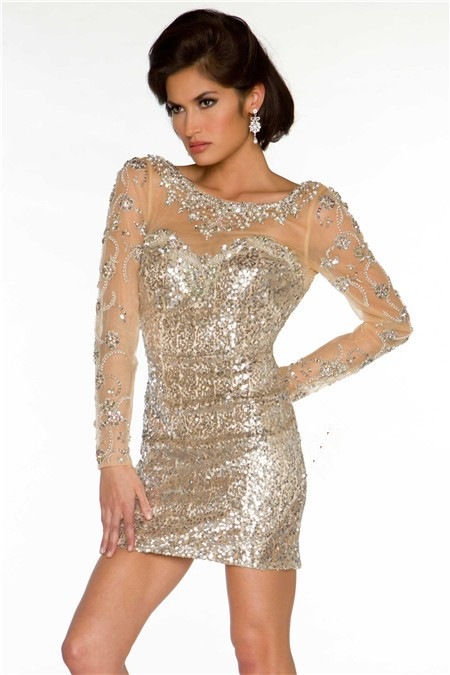 Long Sleeve Beaded Prom Dress & Fashion Week Collections