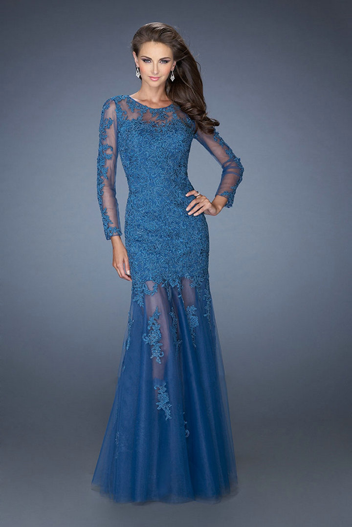Long Sleeve Formal Evening Dresses : Look Like A Princess 2017