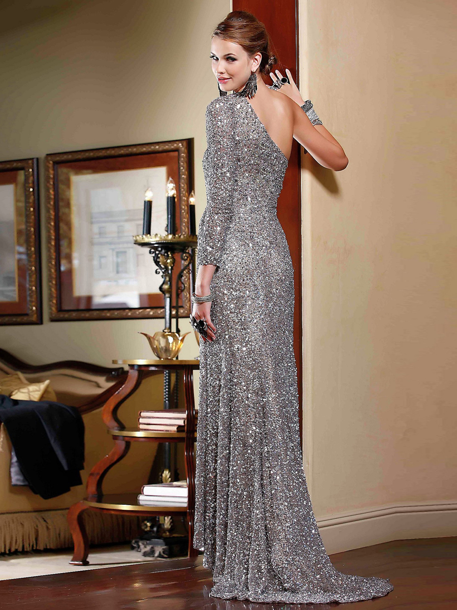 Long Sleeve Sequin Dresses Floor Length & Popular Styles 2017