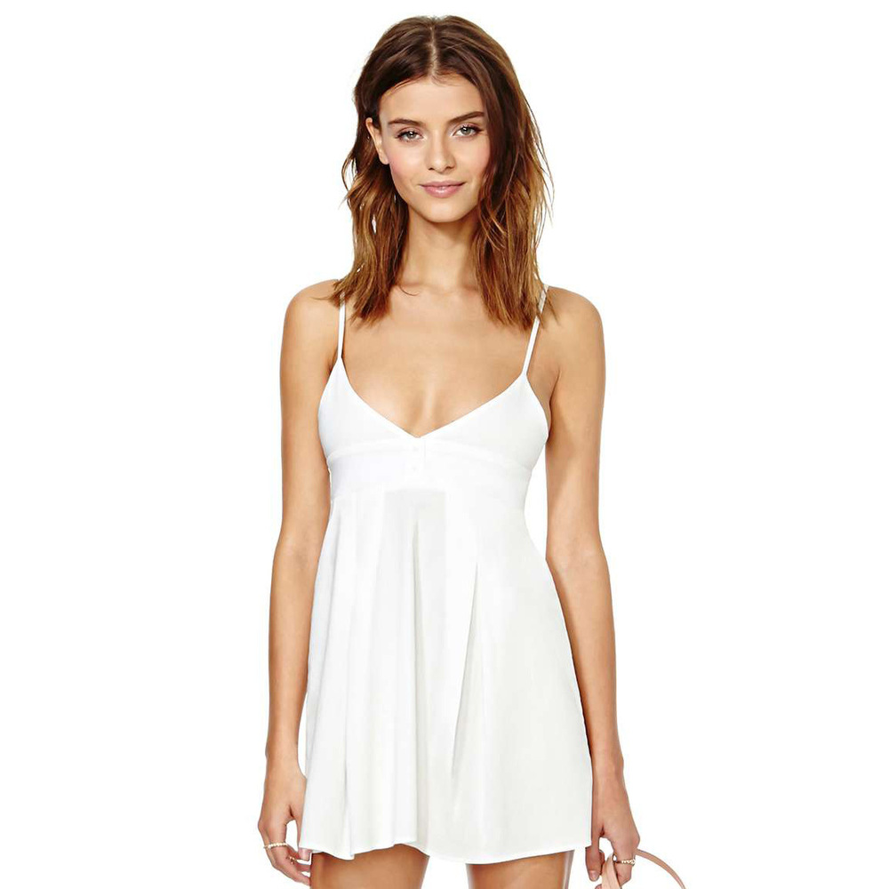 One Piece White Dress - Make You Look Thinner