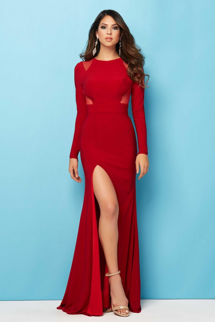 Red Fitted Long Dress & Simple Guide To Choosing – FashionMora