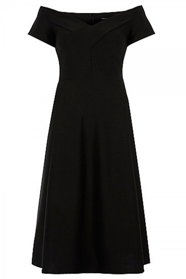 River Island Black Midi Dress : Make You Look Like A Princess