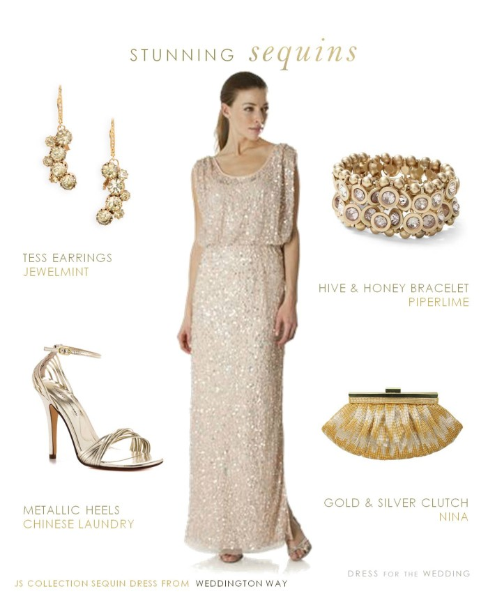 Nordstrom Gold Sequin Dress | Weddings Dresses