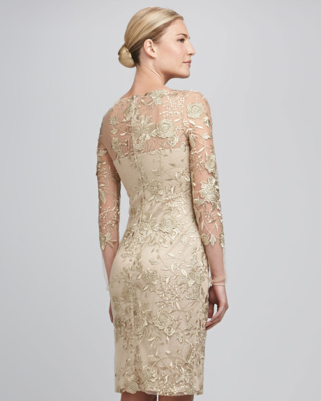 Gold Cocktail Lace Dress : Review