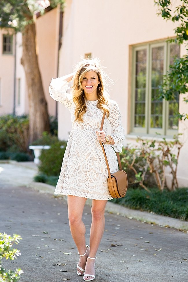 Bell Sleeve White Lace Dress : Look Like A Princess 2017