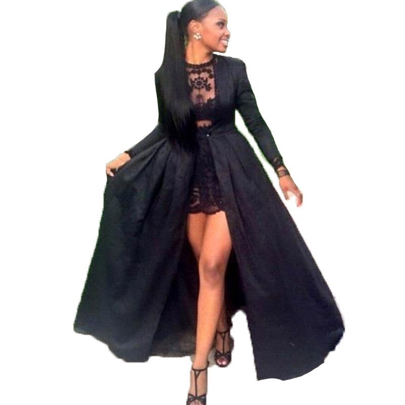Black Lace 2 Piece Prom Dress And Fashion Show Collection