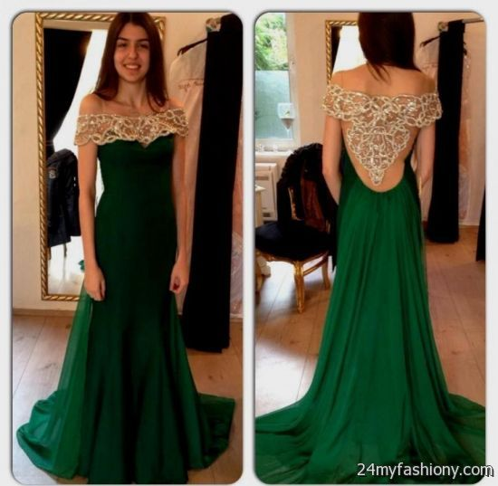 Dark Green Prom Dress 2017 And Fashion Show Collection