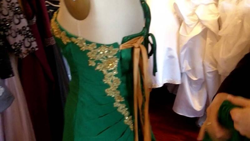 Emerald And Gold Dress : Make You Look Like A Princess
