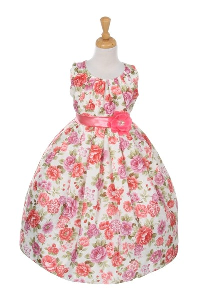 Girls Floral Print Dress : Fashion Forecasting 2017