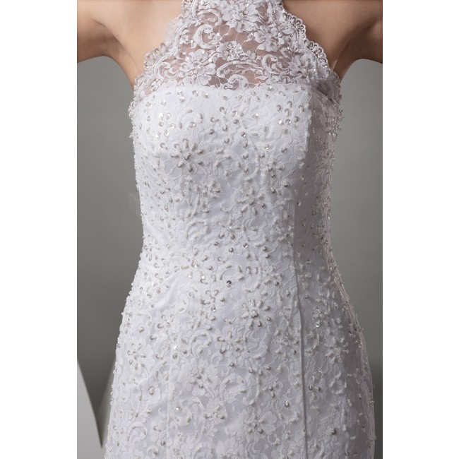 Halter White Lace Dress : Style 2017-2018