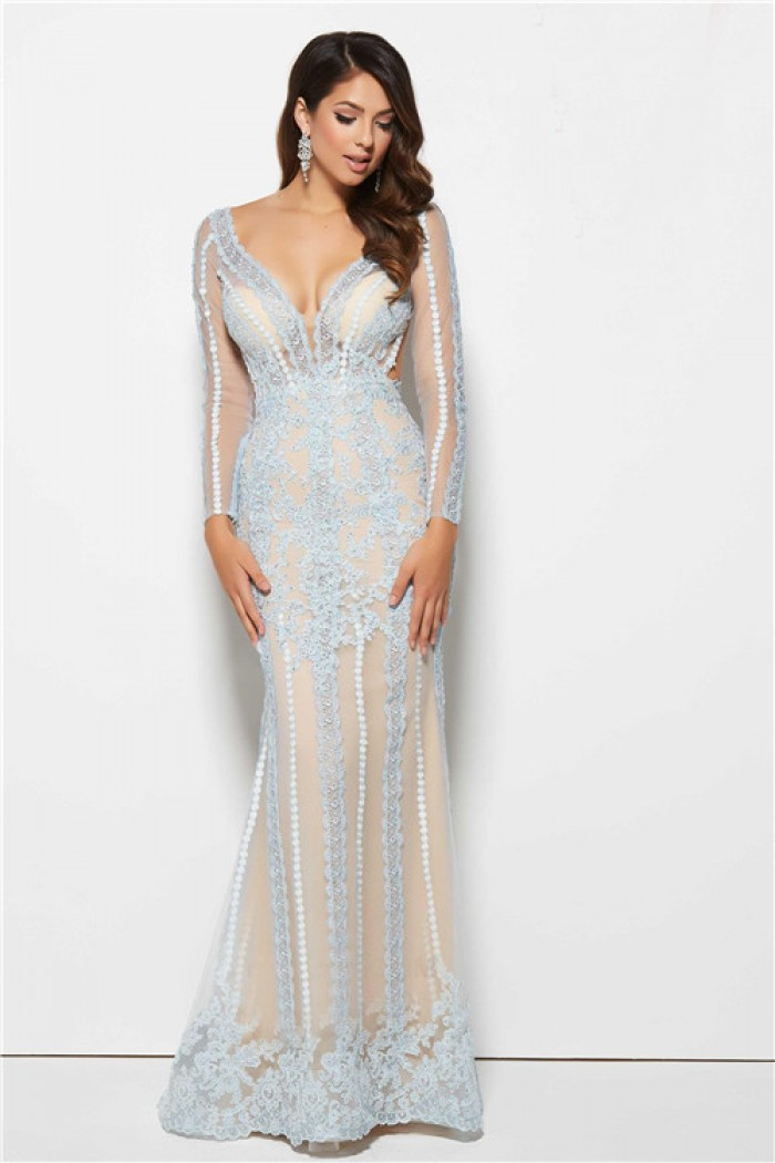 Lace Backless Mermaid Prom Dress - For Beautiful Ladies
