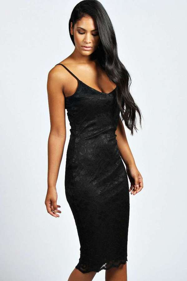 Lace Bodycon Dress Midi - Make You Look Like A Princess