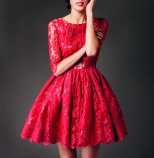 Lace Dress Fit And Flare - Fashion Forecasting 2017