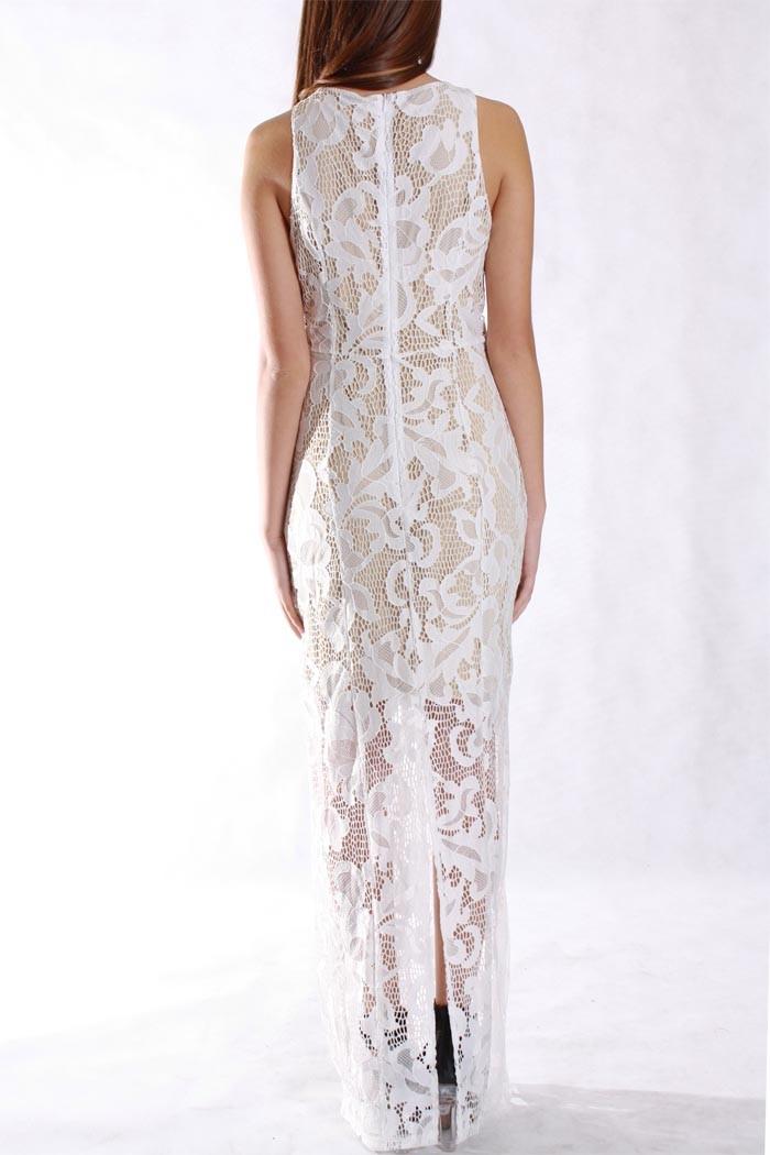 Lace Trim Maxi Dress & Oscar Fashion Review