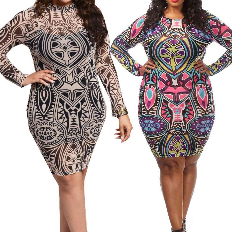 Long Sleeve Mesh Dress Plus Size & Fashion Forecasting 2017