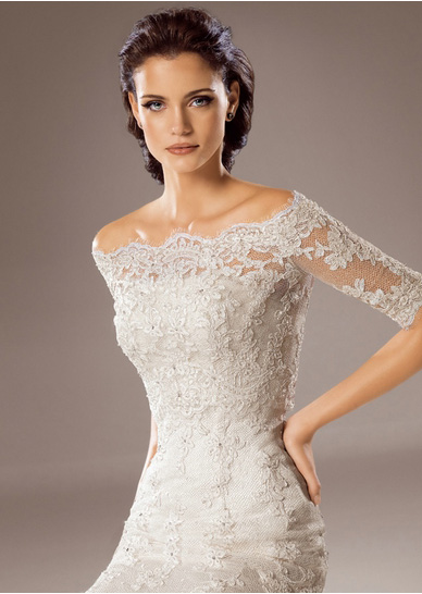 Off The Shoulder Lace Gown - Make You Look Thinner