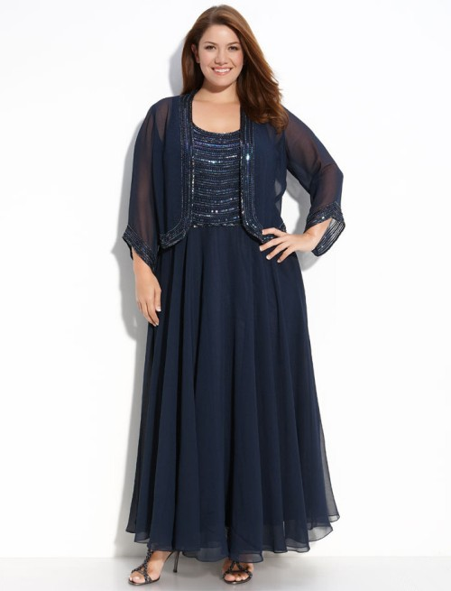 Plus Size Lace Dress With Jacket & Always In Style 2017-2018