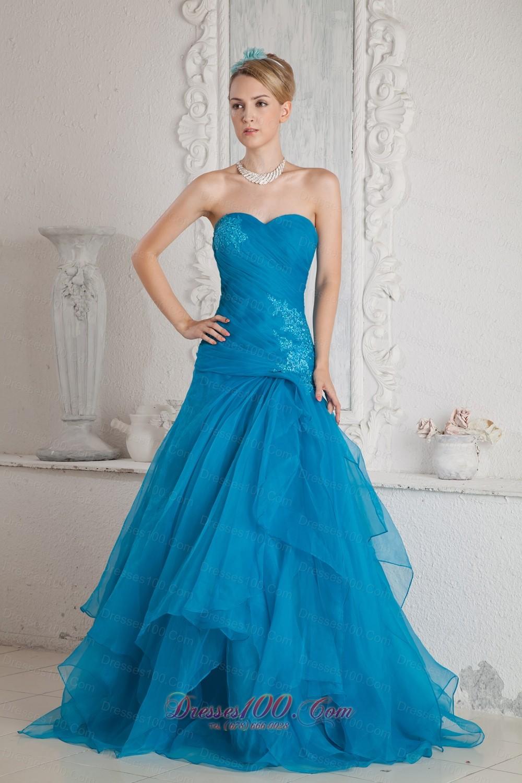 Prom Dresses Teal Color - Make You Look Like A Princess