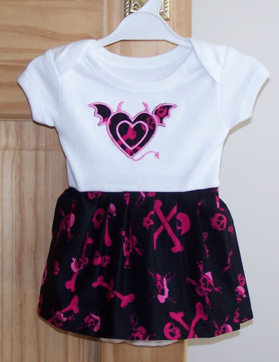 Red And Black Baby Dress - Spring Style