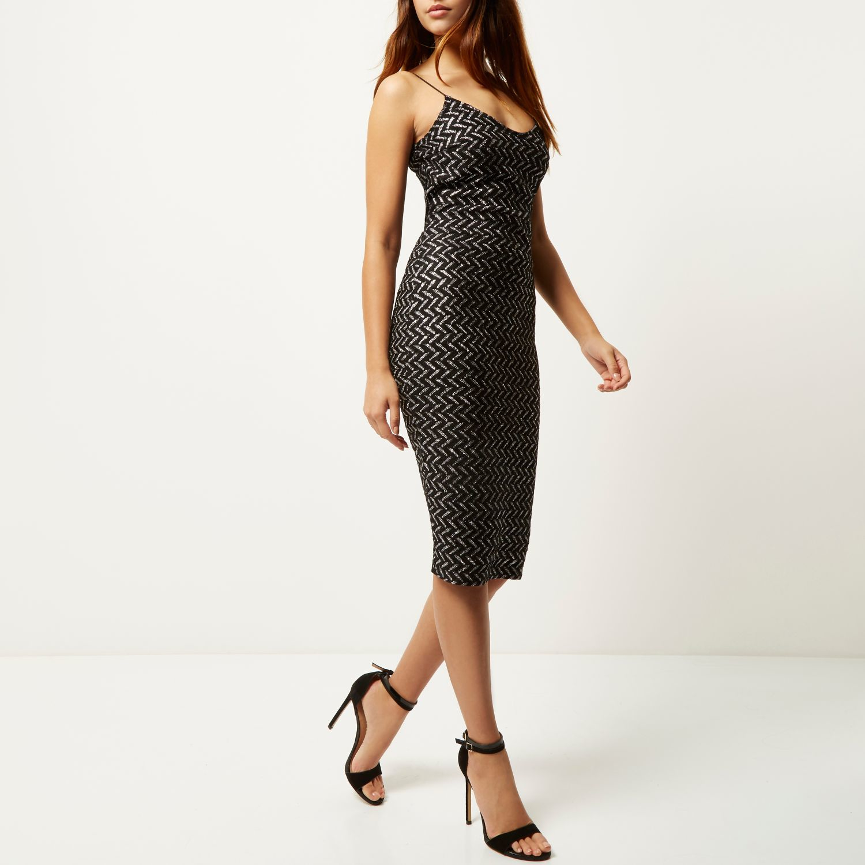 River Island Black Midi Dress : Make You Look Like A Princess
