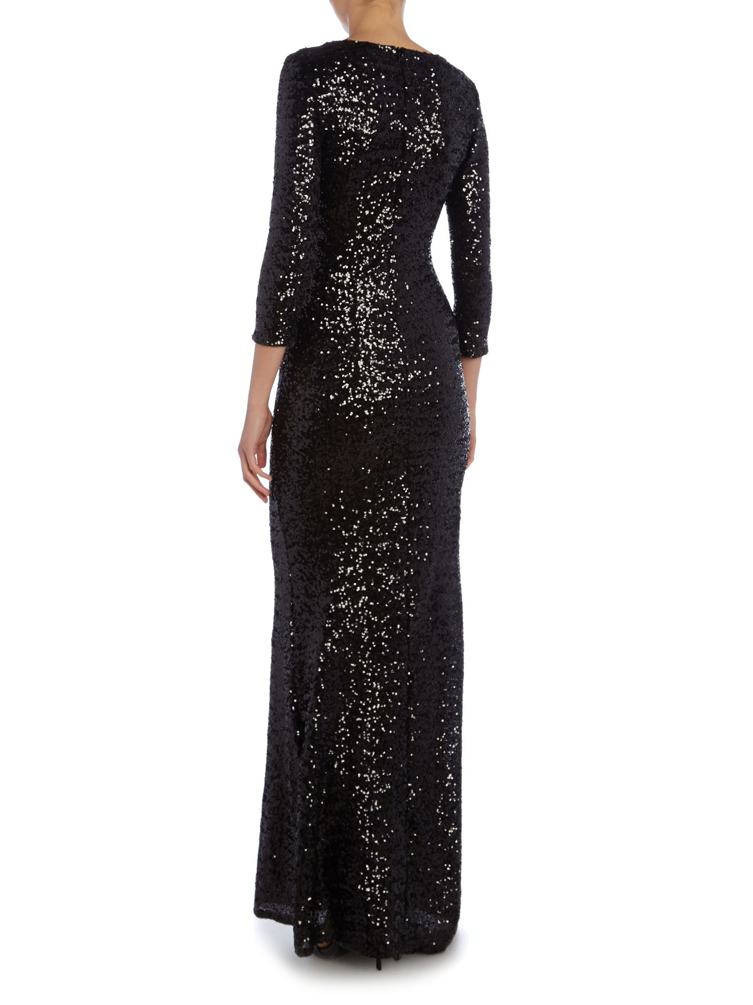 Sequin Maxi Dress Long Sleeve - Perfect Choices