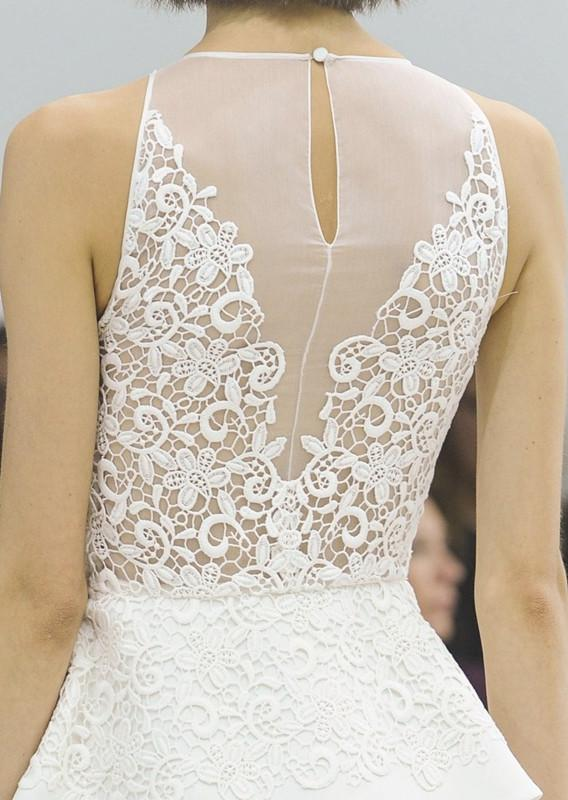White Dress With Lace Back - 2017-2018