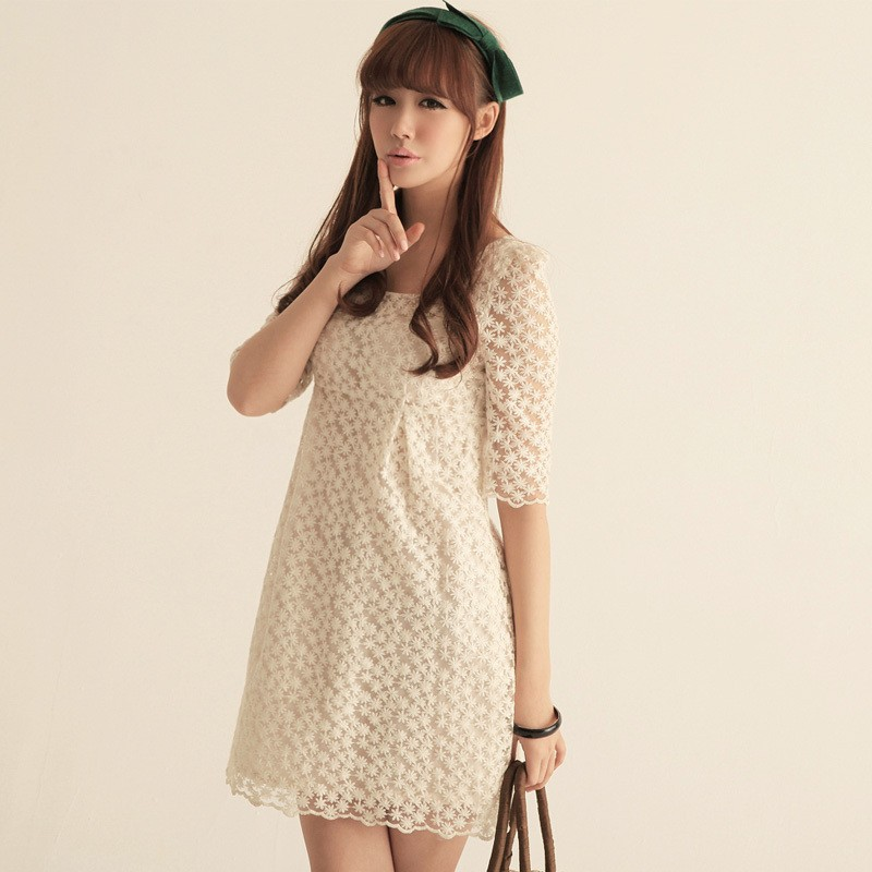 White Lace Dress Womens - 35+ Images 2017-2018