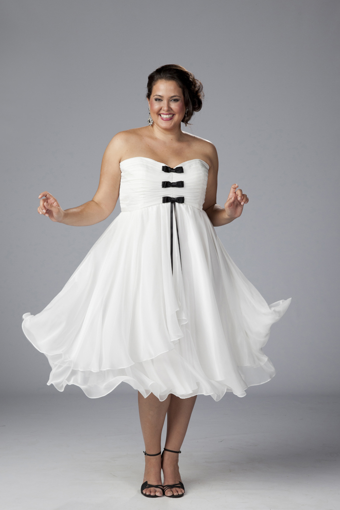 White Plus Size Dresses For Graduation & Beautiful And ...