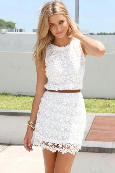 White Short Dress Lace And How To Look Good 2017-2018