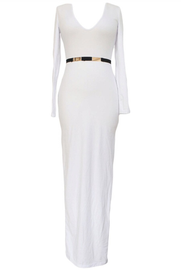 White Short Maxi Dress And Fashion Show Collection