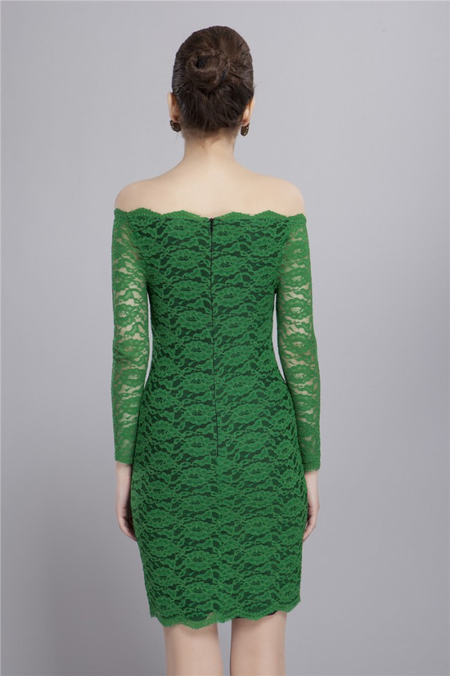 Cocktail Lace Green Dress - Trend 2016-2017